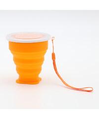 Lesara Faltbare Frischhaltedose mit Tragehenkel - Orange