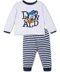 C&A Baby Donald Duck Velours-Baby-Pyjama in Grau