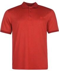 Dunlop Fine Stripe Polo Shirt Mens, dark red