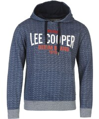 mikina Lee Cooper Tex AOP OTH Hoodie pánská Navy Marl