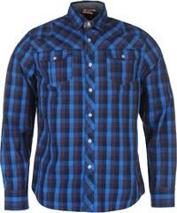 Lee Cooper Carlton Long Sleeve Check Shirt pánské Blue