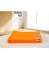 B.E.S. Petrovice BES Petrovice osuška froté 70x130 Color Mozaik Oranžová