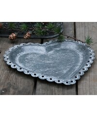 Chic Antique Zinkový tácek Heart