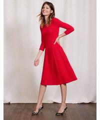 Ausgestelltes, geschwungenes Kleid Rot Damen Boden