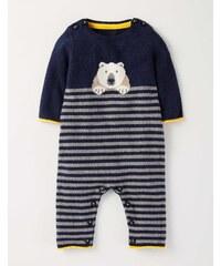 Strickstrampler mit Eisbär Navy Baby Boden