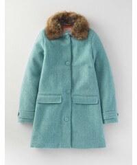 Traditioneller Mantel Blau Mädchen Boden