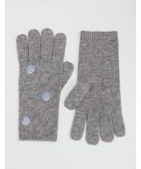 Baby Boden Handschuhe mit Metallic-Tupfen Grau Damen Boden
