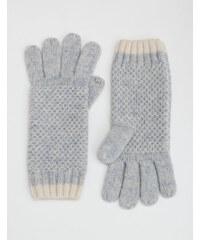 Baby Boden Handschuhe in Blockfarben Silber Damen Boden