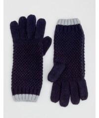 Baby Boden Handschuhe in Blockfarben Navy Damen Boden