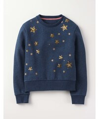 Sweatshirt mit Applikation in lockerer Passform Navy Mädchen Boden