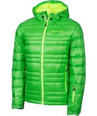 Alpine Pro ISKUT Zelená/Tyrkysově zelená BUNDA PÁNSKÁ