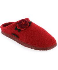 Chaussons Femme Giesswein en Textile Rouge