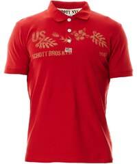 Schott Polohemd - rot