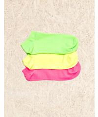chaussettes fitness fluo vertes, jaunes, roses Jennyfer