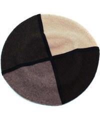 Art of Polo Hnědý čtyřbarevný vlněný baret