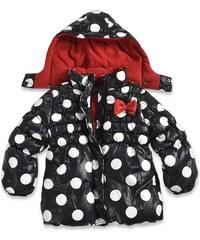 Blue Seven Dívčí bunda s puntíky - černo-bílá