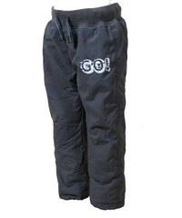 Bugga Chlapecké kalhoty s fleecovou podšívkou GO! - šedé