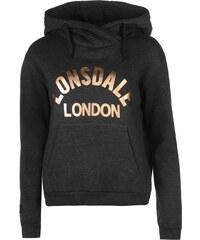 Mikina s kapucí Lonsdale dám. sivě šedá