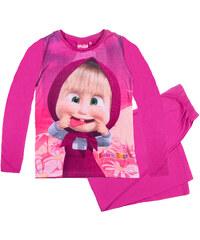 Mascha und der Bär Pyjama pink in Größe 104 für Mädchen aus Vorderseite: 100% Polyester 100% Baumwolle