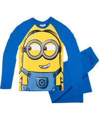 Minions Pyjama blau in Größe 116 für Jungen aus 100% Baumwolle