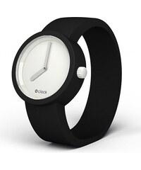 O bag O clock ciferník Bílý a O clock pásek Černý