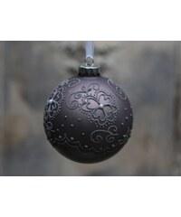 Chic Antique Vánoční baňka Matte pattern Antique mocca