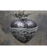 Chic Antique Vánoční ozdoba Heart Antique mocca