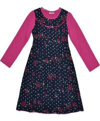 Topo Dívčí květované šaty s trikem - barevné