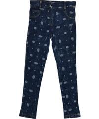 Topo Dívčí džínové kalhoty s potiskem - modré