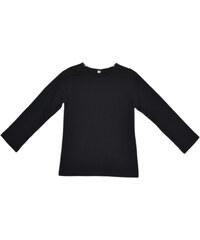 Topo Dívčí triko s dlouhým rukávem - černé
