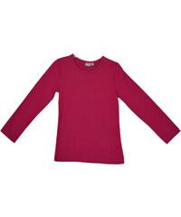Topo Dívčí triko s dlouhým rukávem - růžové