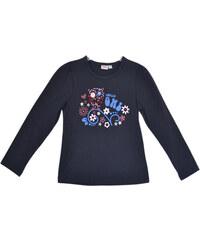 Topo Dívčí triko se sovou - tmavě modré