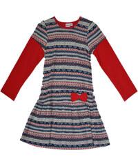 Topo Dívčí vzorované šaty s mašlí - barevné