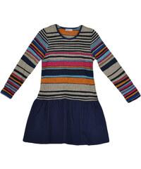 Topo Dívčí pruhované šaty se skládanou sukní - barevné