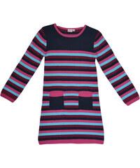 Topo Dívčí pruhované šaty s kapsami - barevné