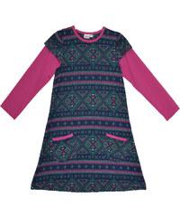 Topo Dívčí vzorované šaty s kampsami - barevné