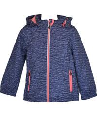 Topo Dívčí bunda s kožíškem - tmavě modrá