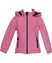 Topo Dívčí bunda s kožíškem - růžová