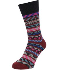 Burlington FAIR ISLE Chaussettes garnet
