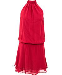 BODYFLIRT Kleid ohne Ärmel in rot von bonprix