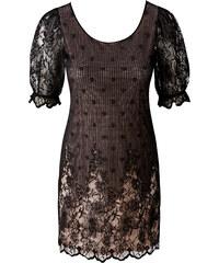BODYFLIRT Spitzenkleid/Sommerkleid halber Arm in schwarz von bonprix