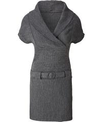 BODYFLIRT Strickkleid/Sommerkleid kurzer Arm in grau von bonprix