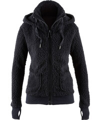 bpc bonprix collection Basic Fleece-Jacke langarm in schwarz für Damen von bonprix