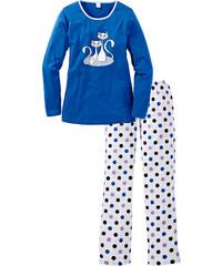 bpc bonprix collection Pyjama langarm in blau für Damen von bonprix