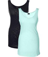 BODYFLIRT Top (2er-Pack) ohne Ärmel in grün für Damen von bonprix
