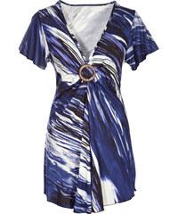 BODYFLIRT Shirt kurzer Arm in blau (V-Ausschnitt) für Damen von bonprix