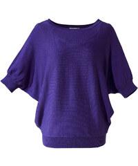 BODYFLIRT Pullover halber Arm in lila (Rundhals) für Damen von bonprix