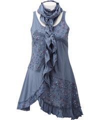 RAINBOW Top mit Schal ohne Ärmel in blau für Damen von bonprix