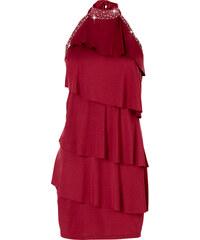 BODYFLIRT Shirtkleid ohne Ärmel in rot von bonprix