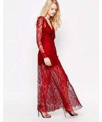 Jovonna Highfield - Robe longue en dentelle - Rouge